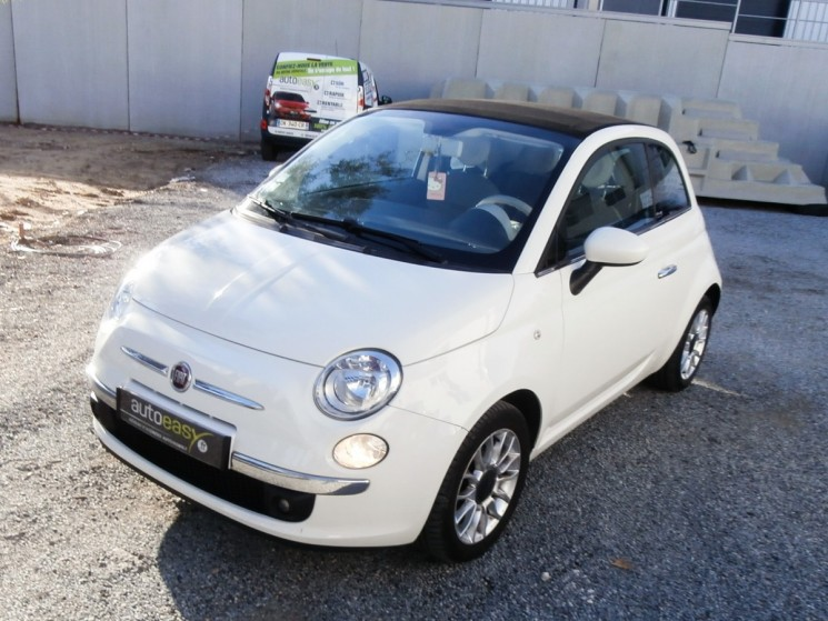 voiture fiat 500 c c cabriolet 1 2 69 ch lounge tat neuf occasion essence 2012 48900 km. Black Bedroom Furniture Sets. Home Design Ideas