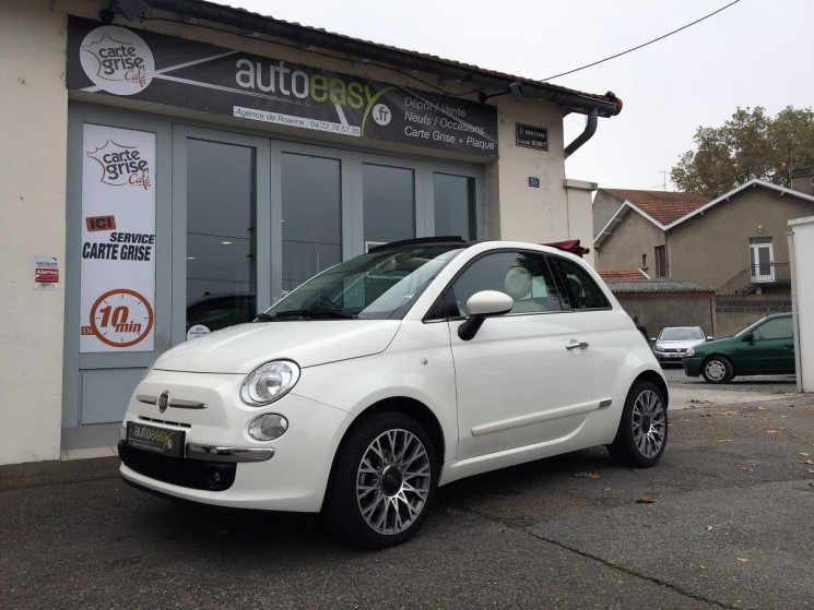 voiture fiat 500 c c 1 2 69 cv lounge occasion essence 2015 8500 km 11490 roanne. Black Bedroom Furniture Sets. Home Design Ideas