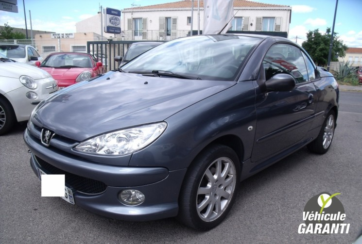 voiture peugeot 206 cc 1 6 hdi 110cv 206cc a pro occasion diesel 2006 185000 km 2990. Black Bedroom Furniture Sets. Home Design Ideas
