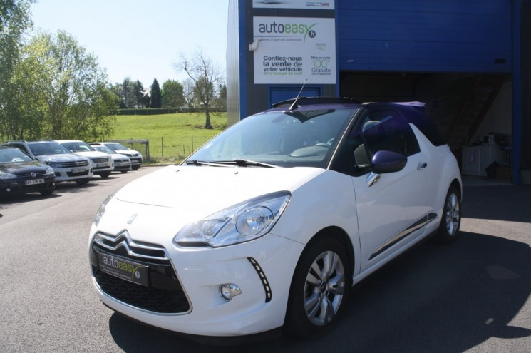 citroen ds3 cabriolet 1 2 vti 82 ch so chic gps autoeasy. Black Bedroom Furniture Sets. Home Design Ideas