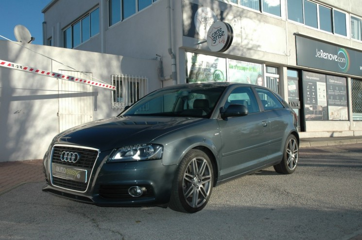 voiture audi a3 2 0 tdi 170 sline bva occasion diesel 2009 105800 km 11990 la garde. Black Bedroom Furniture Sets. Home Design Ideas