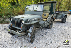 JEEP WILLYS HOTCHKISS M 201 AVEC REMORQUE