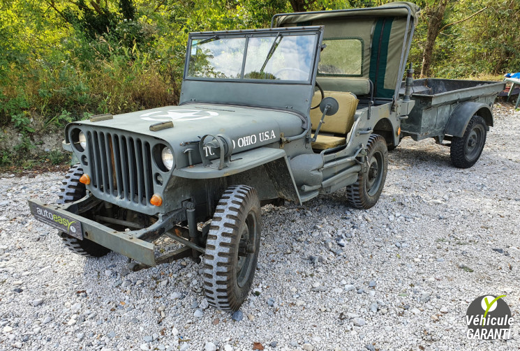 JEEP AUTRES WILLYS HOTCHKISS MB AVEC REMORQUE